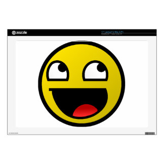 """Awesome Face! Skin For 17"""" Laptop"""