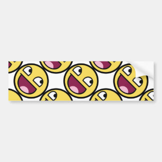 Awesome Face Smiley Bumper Sticker