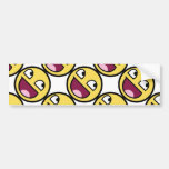 Awesome Face Smiley Car Bumper Sticker