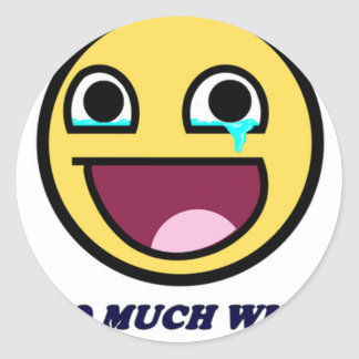awesome face so much win classic round sticker