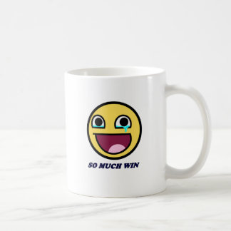 awesome face so much win coffee mug