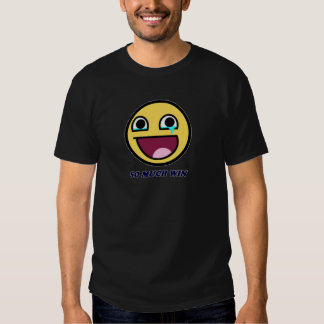 awesome face so much win shirt