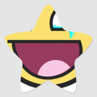 awesome face so much win star sticker