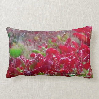 Awesome Fall Red Leaf Flower Colors on gifts fun Lumbar Pillow