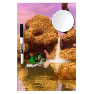 Awesome fantasy landscape dry erase board with mirror