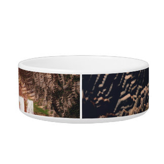 Awesome fantasy landscape pet water bowl