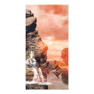 Awesome fantasy landscape photo card