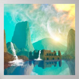 Awesome fantasy landscape poster