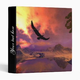 Awesome fantasy landscape with flying eagle vinyl binder