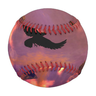 Awesome fantasy landscape with flying eagle baseballs