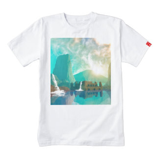 Awesome fantasy landscape zazzle HEART T-Shirt
