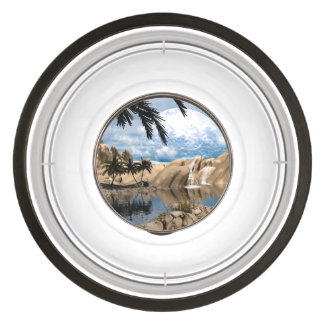 Awesome fantasy landscape pet bowl