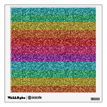 Awesome fashionable trendy rainbow bright colours wall decal
