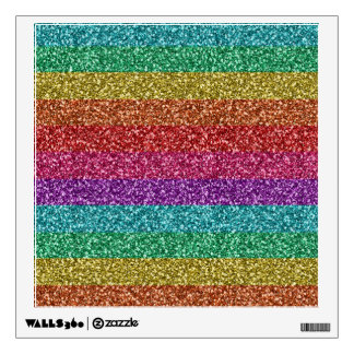 Awesome fashionable trendy rainbow bright colours wall graphic