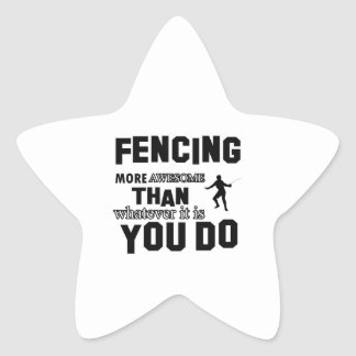 Awesome Fencing designs Star Sticker