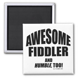 Awesome Fiddler 2 Inch Square Magnet
