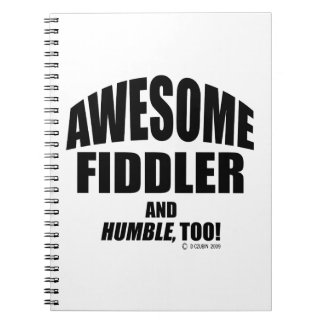 Awesome Fiddler Spiral Notebook