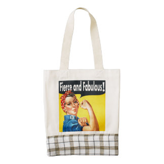 Awesome Fierce and Fabulous Zazzle HEART Tote Bag