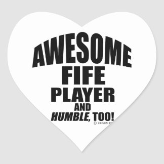 Awesome Fife Player Heart Sticker