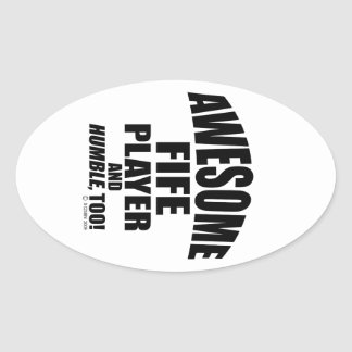 Awesome Fife Player Oval Sticker
