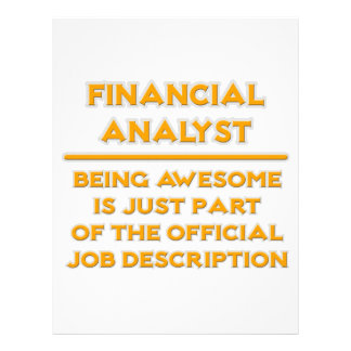 Awesome Financial Analyst .. Job Description Letterhead