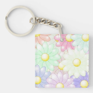 Awesome Flowers Keychain