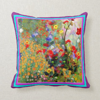Awesome Flowery Garden Pillow by Sharles