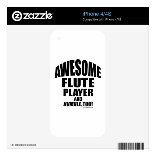 Awesome Flute Player Skins For iPhone 4S