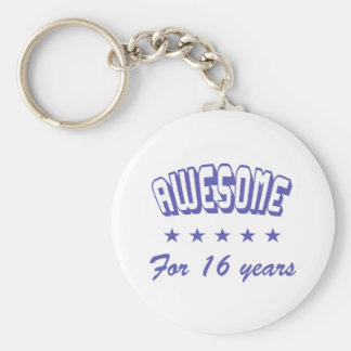 Awesome For 16 Years Basic Round Button Keychain