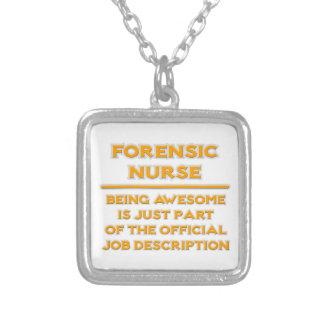 Awesome Forensic Nurse ..  Job Description Square Pendant Necklace