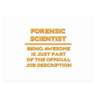 Awesome Forensic Scientist .. Job Description Postcard