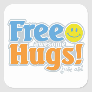 Awesome Free Hugs! Square Sticker
