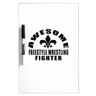 AWESOME FREESTYLE WRESTLING FIGHTER DRY ERASE BOARD