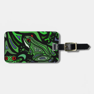 Awesome Frog Abstract Art Tags For Luggage