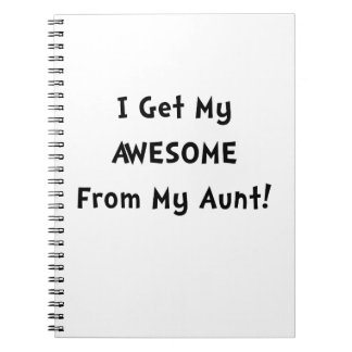 Awesome From Aunt Spiral Notebook