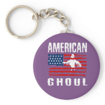 Awesome Funny American Ghoul Gift design Keychain