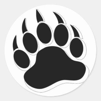 Awesome Gay Bear claw B&W 3D effect Classic Round Sticker
