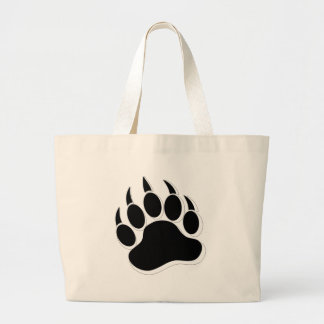 Awesome Gay Bear claw B&W 3D effect Large Tote Bag