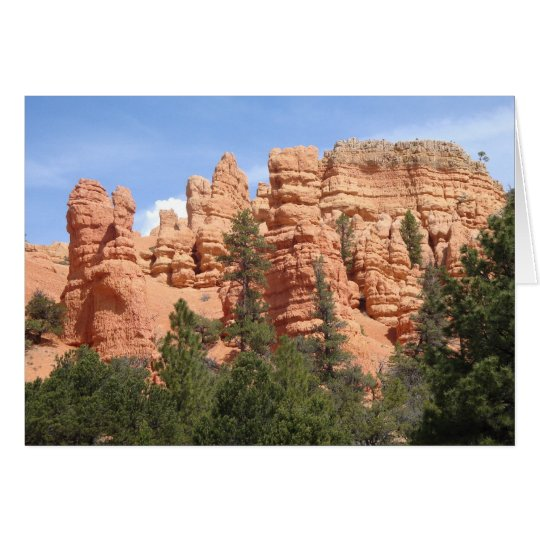 Awesome Geologic Formations at Red Canyon, Utah Card