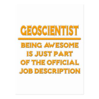 Awesome Geoscientist .. Job Description Postcard