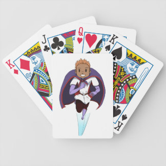 Awesome Girl Bicycle Playing Cards