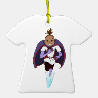 Awesome Girl Double-Sided T-Shirt Ceramic Christmas Ornament