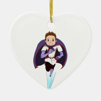 Awesome Girl Double-Sided Heart Ceramic Christmas Ornament