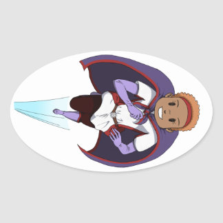 Awesome Girl Oval Sticker