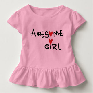 Awesome girl Toddler Ruffle Tee