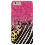Awesome girly trendy leopard print, zebra stripes barely there iPhone 6 plus case