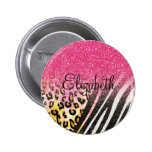 Awesome girly trendy leopard print, zebra stripes pins
