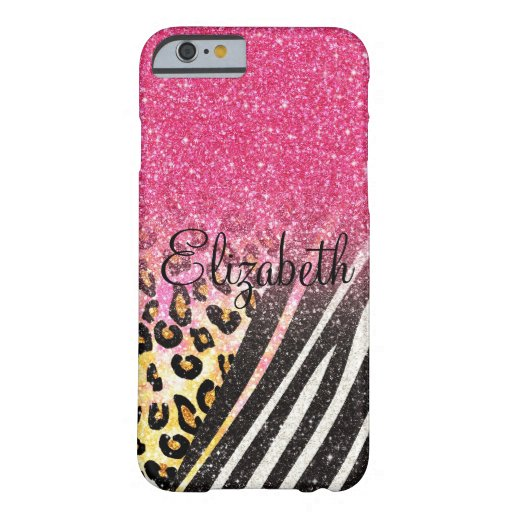 Awesome girly trendy leopard print, zebra stripes iPhone 6 case