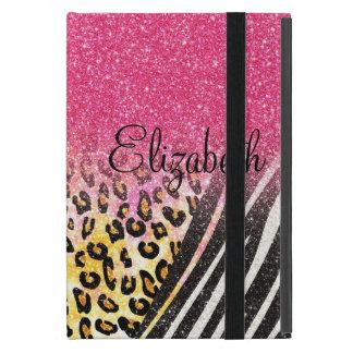 Awesome girly trendy leopard print zebra stripes iPad mini cover