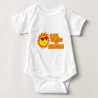 Awesome Global Warming Baby Bodysuit